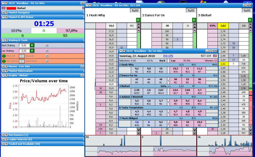 trading betfair software