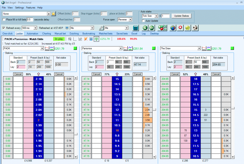 Bet Angel trading software