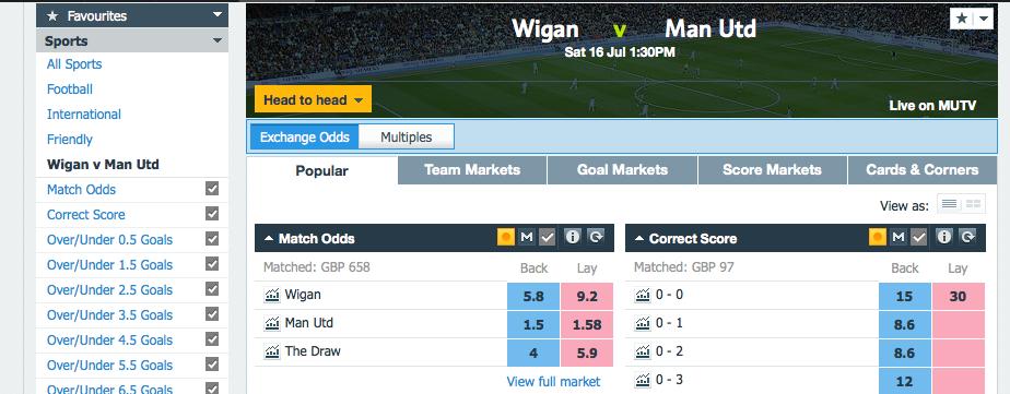Wigan game