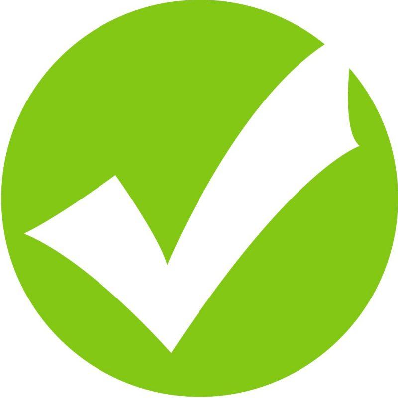 Green tick image