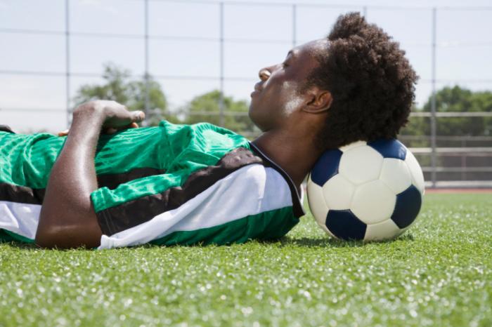 Sleeping Footballer